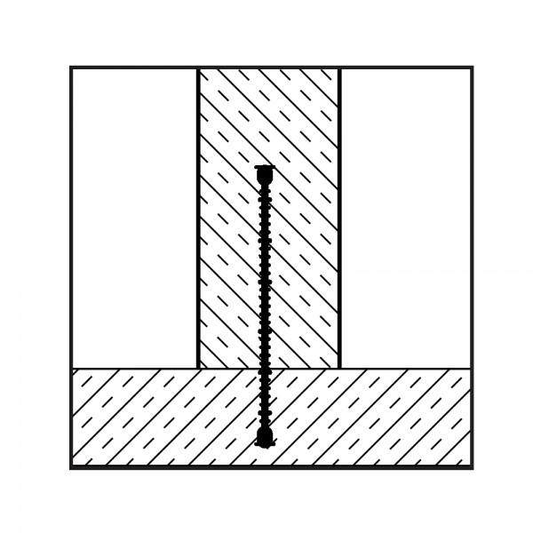 Arbeitsfugenband innenliegend mit Stehbügel