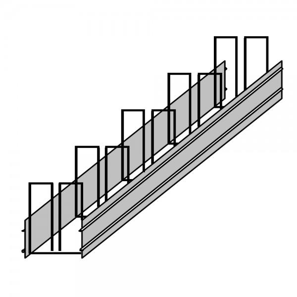 Aufkantungselement mit Fugenbandhalter für Sohle / Wand