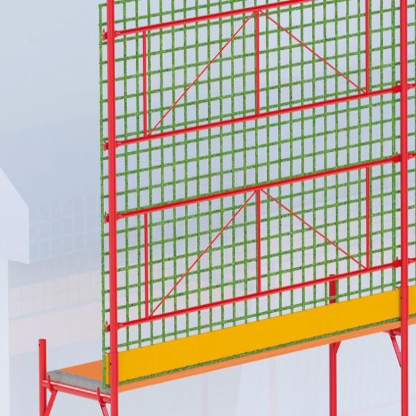 Seitenschutznetz für den Dachbereich