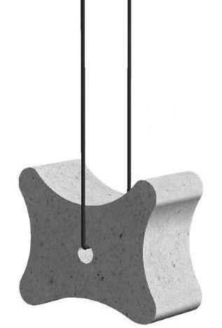 Faserbeton-Klötze Knochen