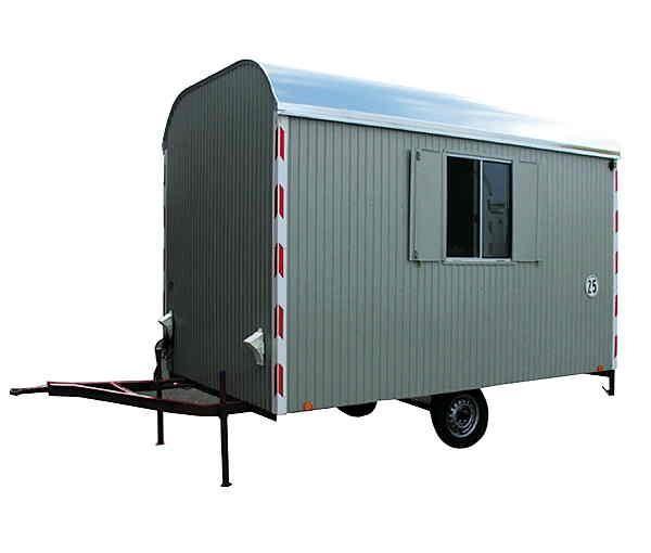 Bauwagen 3.50 m, eingerichtet