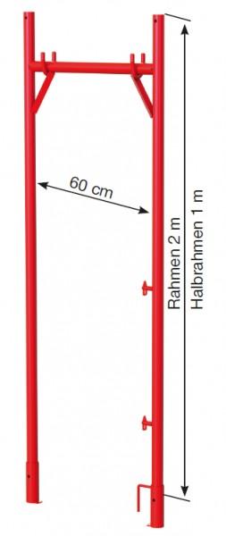 Halbrahmen 1,0 x 0,65 m lackiert G0150